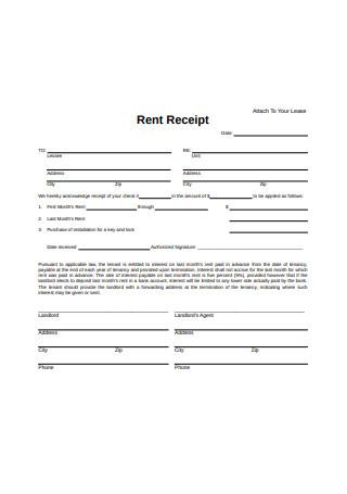 Paid Rent Receipt Form