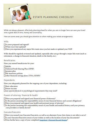 Professional Estate Planning Checklist