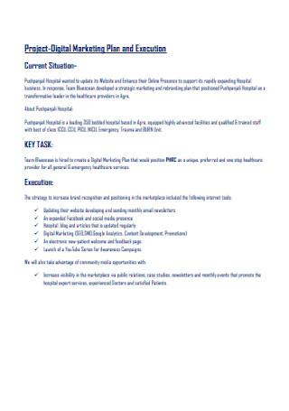 Project Digital Marketing Plan
