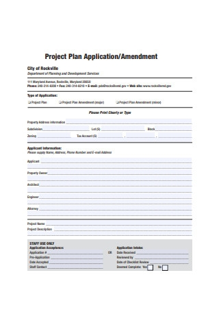Project Plan Application