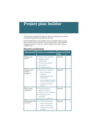Project Plan Builder