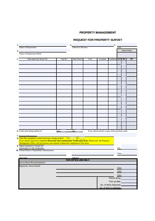 Property Management Request for Property Survey