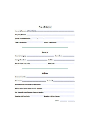 Property Survey Format