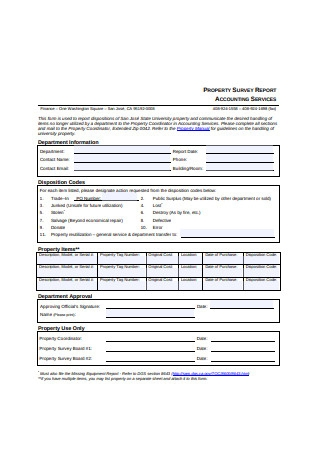Property Survey Report