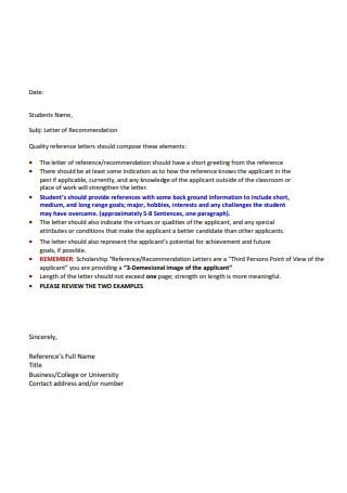 Quality Recommendation Letters