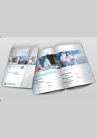 Real Estate Company Brochure Bi Fold InDesign