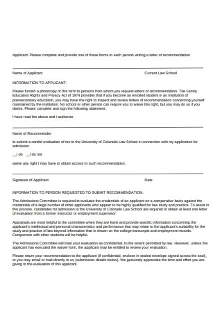 Recommendation Cover Letter