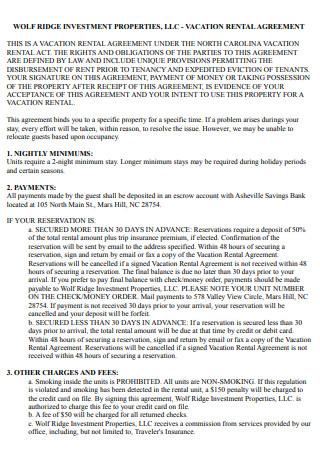 Rental Agreement Sample