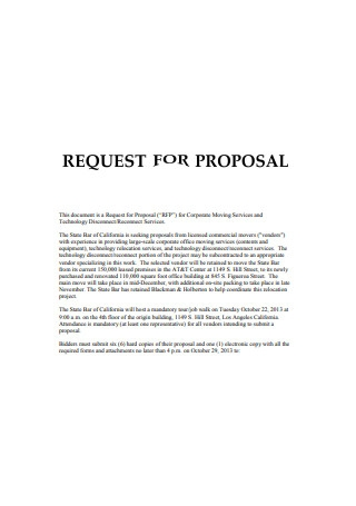Request for Corporate Proposal