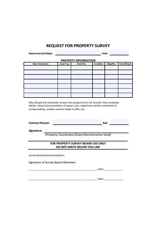 Request for Property Survey