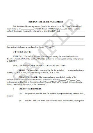 Residential Lease Agreement1