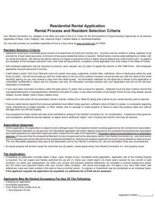 Residential Rental Application1