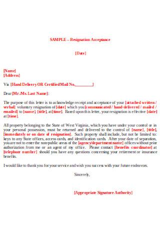 Resignation Acceptance Letter1