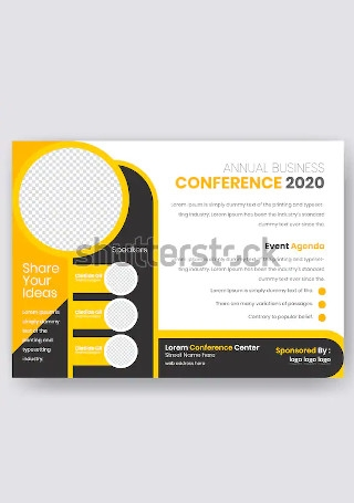 Retro Conference Flyer InDesign