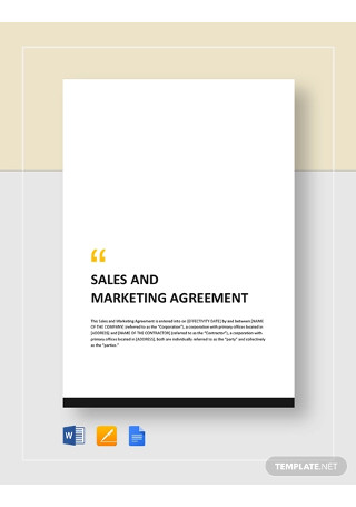 Sales and Marketing Agreement Template