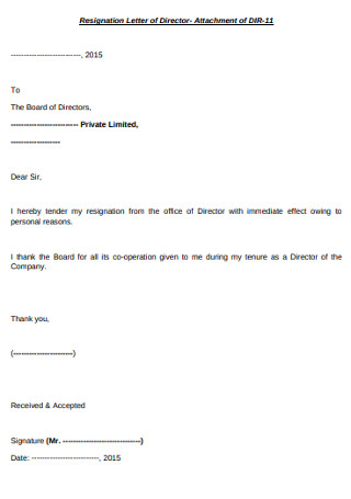 Sample Board Directors Registration Letter