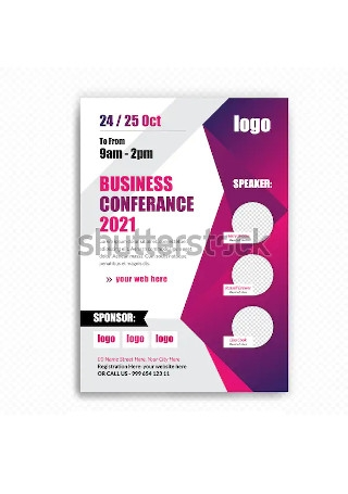 Sample Business Conference Flyer