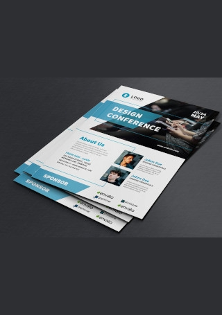 Sample Conference Flyer InDesign