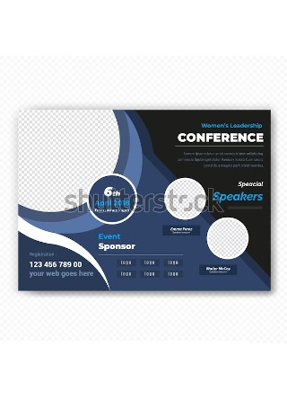 Sample Conference Flyer in Vector EPS1