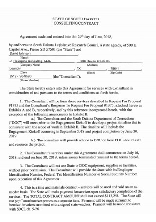 Sample Consulting Contract in PDF