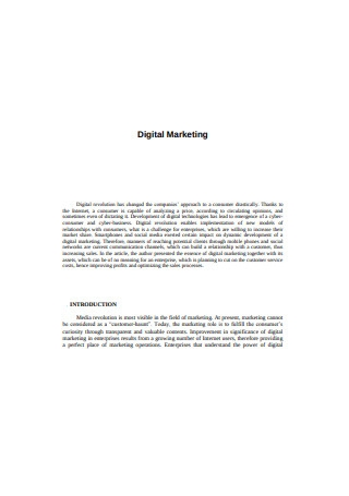 Sample Digital Marketing