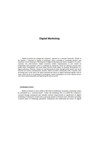 Sample Digital Marketing