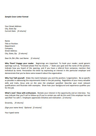 Sample Marketing Cover Letter Format