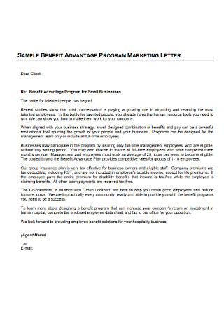 Sample Marketing Letter