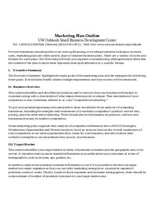 Sample Marketing Plan Outline1