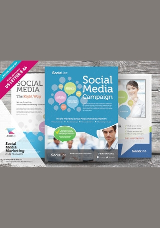 Sample Social Media Marketing Flyer