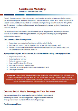 Sample Social Media Marketing