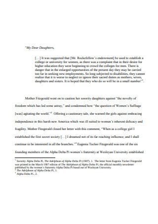 Sample Sororities Letter of Recommendation