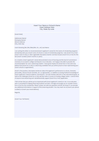 Scholarship Recommendation Letter1