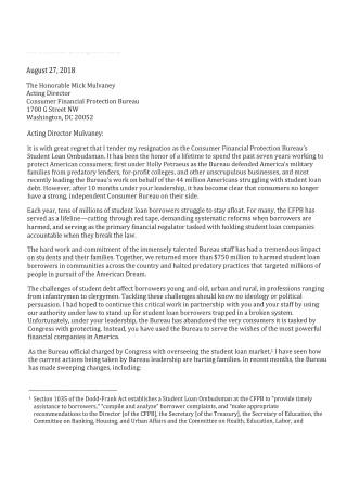 Simple Resignation Letter