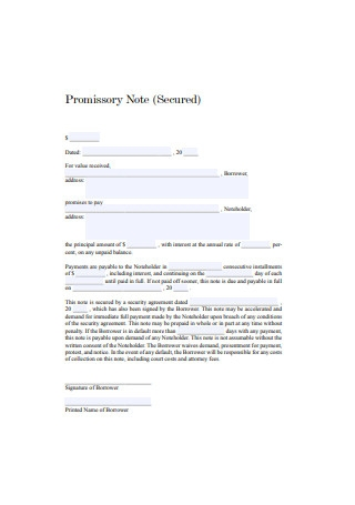 Simple Secured Promissory Note