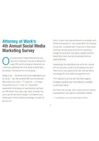 Social Media Marketing Survey Report