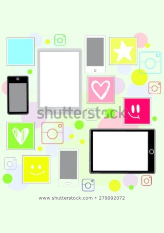 Social Networking Instagram Marketing Vector1