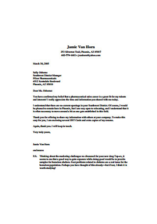 Southwest District Manager Sales Cover Letter