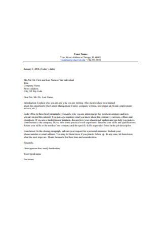 Standard Internship Recommendation Letter