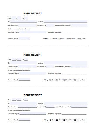 Standard Rental Receipt