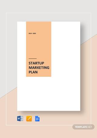 Startup Marketing Plan Template