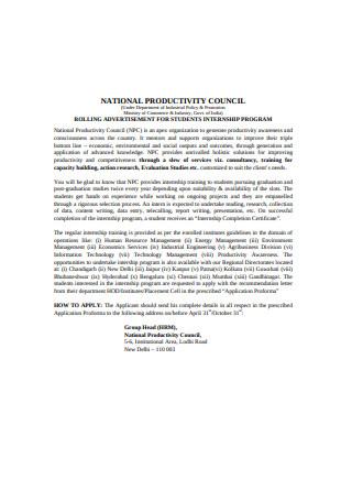 Student Internship Recommendation Letter