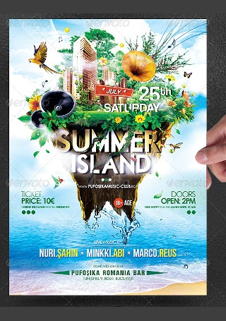 Summer Island Poster Flyer