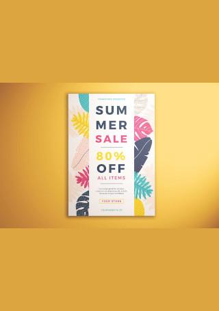Summer Sale Flyer InDesign