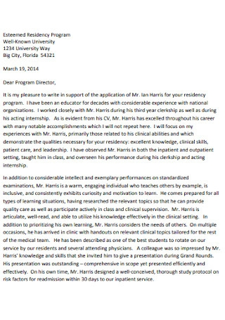 Supportive Letter of Recommendation