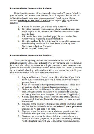 Thank You Letter for Teacher