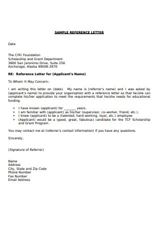 Thank You Recommendation Letter for Organization