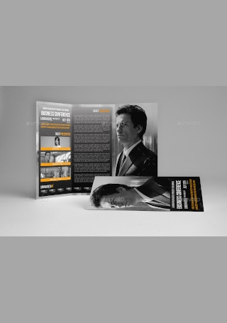 Trifold Business Conference Brochure