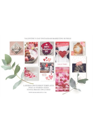 Valentine Instagram Marketing Set1