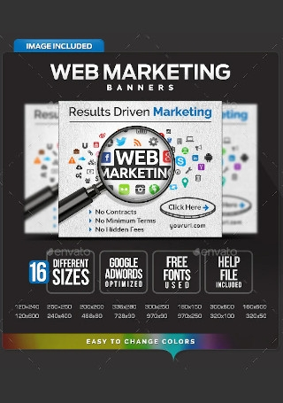 Web Marketing Banners